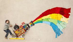 8 maneras facilísimas de lograr que salga el arcoíris de la creatividad