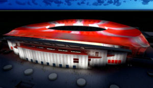 El estadio del Atlético de Madrid será pionero en contar con tecnología LED de la mano de Philips Lighting