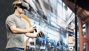 Mark Zuckerberg disfruta como un niño con la demo de las Oculus Connect