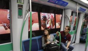 Metro de Madrid lanza un disruptivo formato publicitario en los túneles