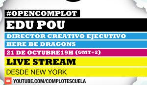 Una charla abierta, online y gratuita con el director creativo de Here Be Dragons, en #OpenComplot
