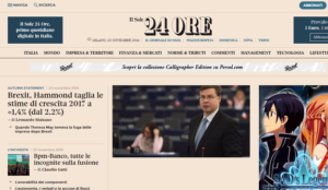 CMVocento gestiona la publicidad del diario económico líder del mercado italiano Il Sole 24 Ore