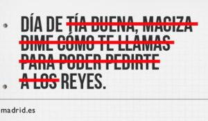 La campaña del Ayuntamiento de Madrid para decir
