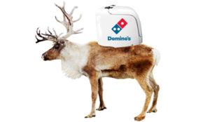 Domino's quiere que las pizzas lleguen a sus clientes a lomos de simpáticos renos