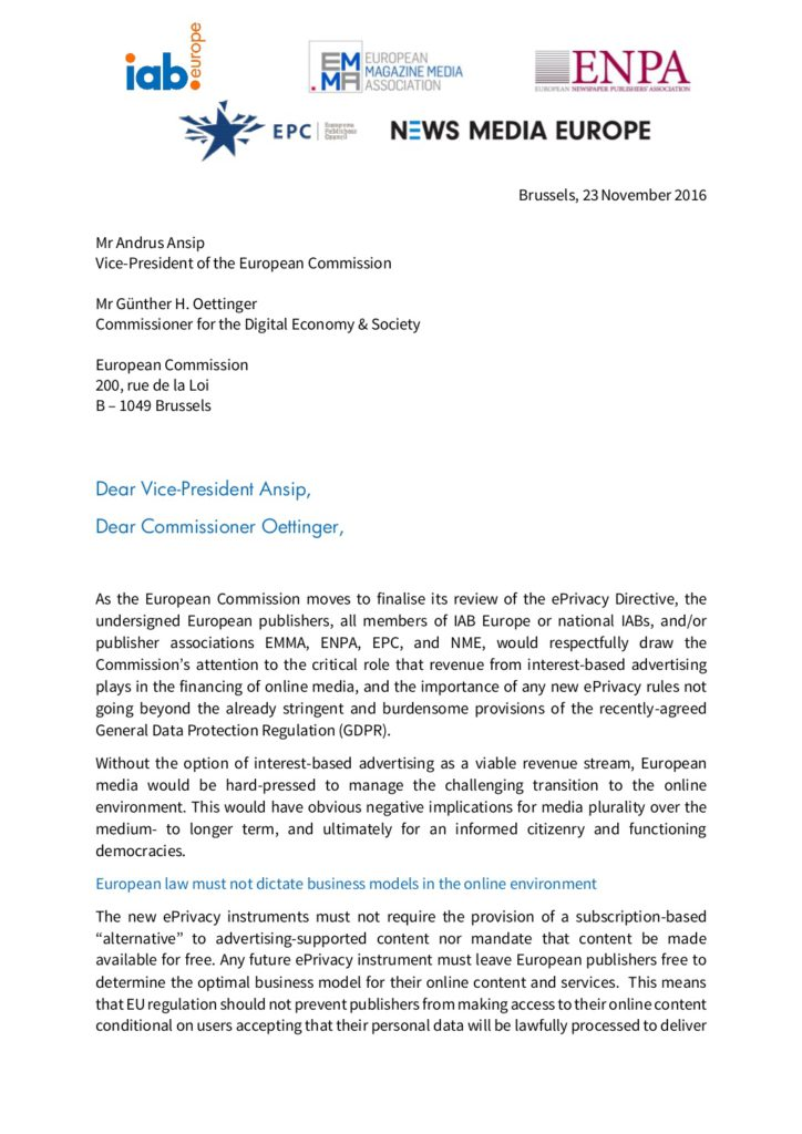 european-publishers-urge-european-commission-to-recognise-importance-of-digital-advertising-in-review-of-the-eprivacy-directive-1-1024