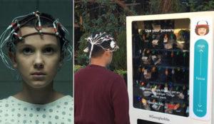 Netflix promociona Stranger Things con una máquina de vending controlable con la mente