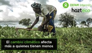 Recoger firmas para que el Gobierno se involucre con el calentamiento global, nuevo objetivo de Oxfam