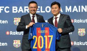 Rakuten, nuevo patrocinador de la camiseta del F.C. Barcelona por 232 millones de euros