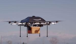 Amazon ha patentado centros de almacenamiento voladores para hacer entregas con drones