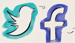 Así son las batallas que deberán librar Twitter y Facebook en 2017