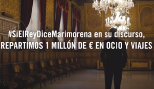 #SiElReyDiceMarimorena en su discurso, Atrápalo regala 1 millón de euros en ocio y viajes