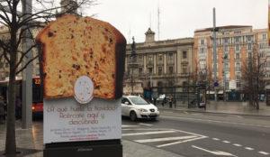 JCDecaux consigue quelas calles de Zaragoza desprendan undelicioso aroma a panettone