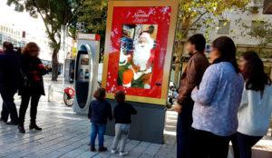 JCDecaux Innovate lleva a Papá Noel a las calles de Santander, Valencia y Sevilla por Navidad