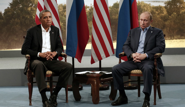 La siempre tensa relación entre Obama y Putin.