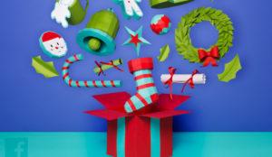 Facebook permite diseñar christmas para felicitarse a uno mismo la Navidad