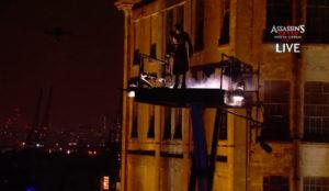 Una caída libre sin protección y en directo para promocionar la película Assassin's Creed