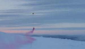 Samsung le cambia la imagen a la Navidad usando un dron gigante