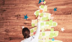 ROI UP contagió su espíritu navideño a todo su edificio con una original acción