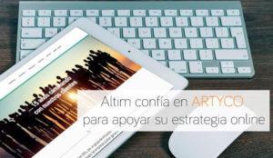 Altim confía en Artyco para el apoyo de su estrategia online
