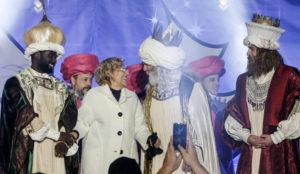 Desfile de patrocinadores en la Cabalgata de Reyes de Madrid