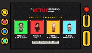 Netflix reinventa el clásico videojuego 8 bits con los personajes de sus series originales