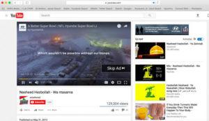 Varios anuncios de la Super Bowl aparecen en YouTube junto a contenidos terroristas