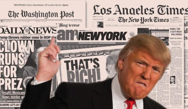 Trump pide a los americanos votar en una encuesta en contra de la prensa