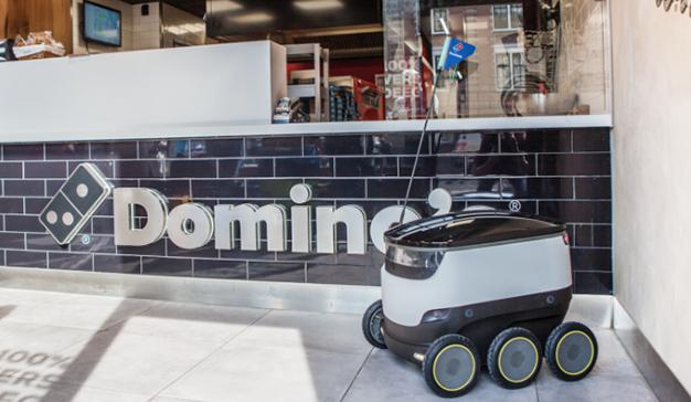 Los robots repartidores de comida llegan a Domino's