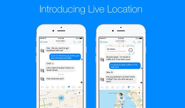 Faceebook Messenger ya permite compartir la localización a tiempo real