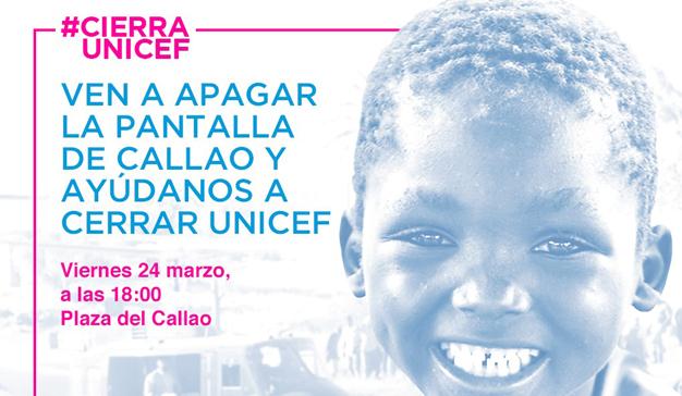 Unicef y Callao City Lights le invitan a provocar un apagón en la Plaza de Callao