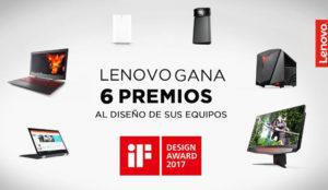 Lenovo gana seis premios al diseño de sus equipos