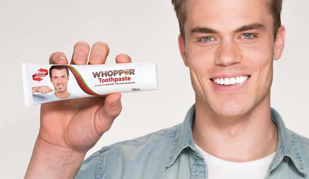 """Burger King lanza un dentífrico con sabor a Whopper que lava los dientes """"a la parrilla"""""""