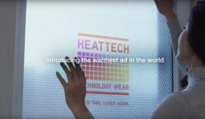 Un anuncio que, además de promocionar ropa térmica, calienta hogares
