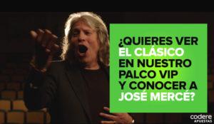 José Mercé enseña cómo se debe cantar un gol en la nueva campaña de Codere