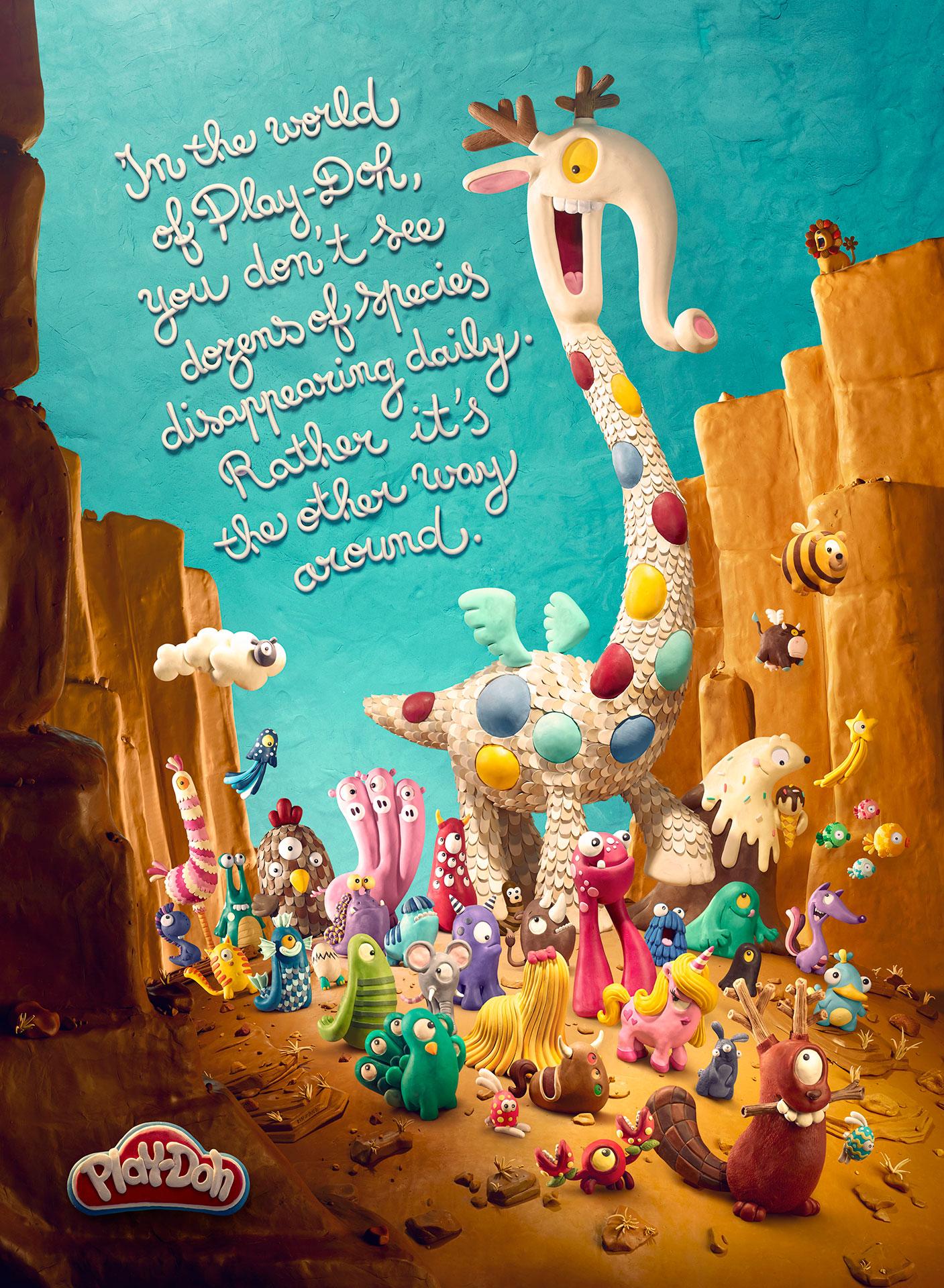 Play-Doh nos devuelve a la infancia en una artesanal campaña llena de fantasía