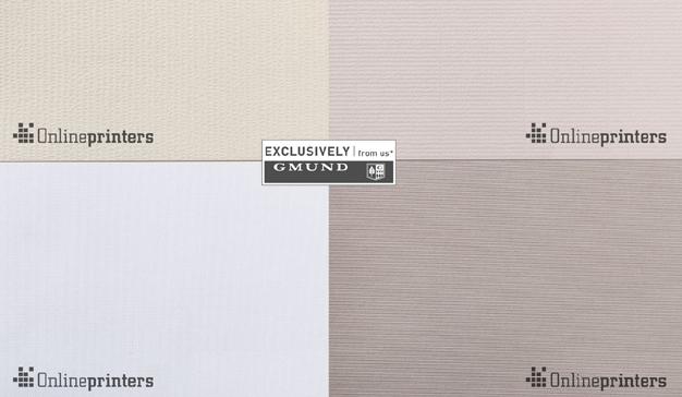 Onlineprinters incorpora nuevos papeles premiumde Gmund Papier