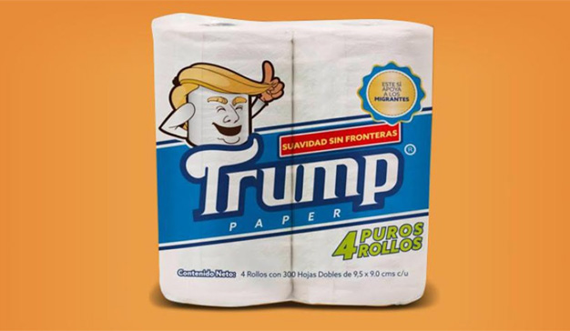 Un mexicano crea un papel higiénico dedicado a la mayor gloria (escatológica) de Trump