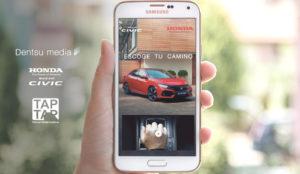 Dentsu Media y TAPTAP presentan el Nuevo Honda Civic mediante el innovador formato VideoShake