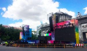 Madrid albergó el worldpride 2017 junto a Fluge Audiovisuales y a Light Project