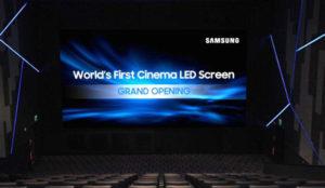 El fin de los cines tradicionales se acerca, de la mano de Samsung y sus pantallas LED