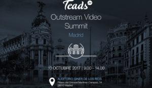 Teads celebrará en Madrid su evento anual dedicado a la publicidad en vídeo outstream
