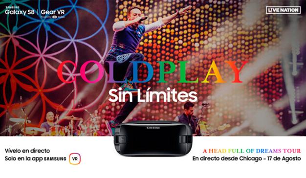 Samsung y Live Nation retrasmitirán en RV y en directo un concierto de Coldplay