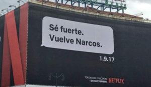 Un narco, un mensaje y un presidente en la nueva y rompedora campaña de Netflix