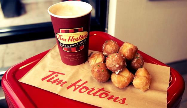 La cadena de cafeterías Tim Hortons,