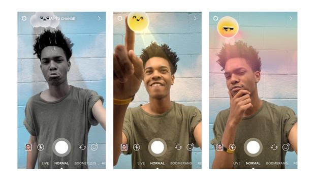 En las historias de Instagram puede hacer sol, nublado o lluvia según su estado de ánimo