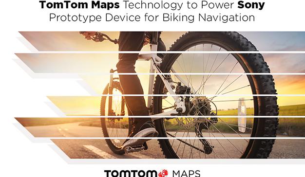 La tecnología de Mapas de TomTom al servicio del prototipo del dispositivo de navegación de Sony para ciclismo