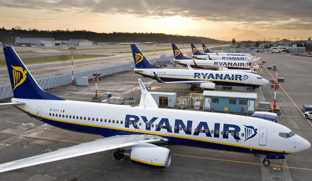 Ryanair cancelará vuelos hasta finales de octubre por mala gestión