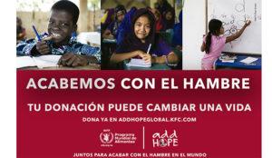 KFC Iberia y WFP se proponen distribuir más de 375.000 comidas escolares por el mundo