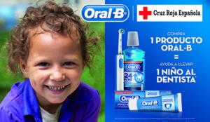 Oral-B y Cruz Roja ayudarán a niños en riesgo de exclusión a ir al dentista