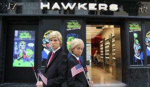 Donald Trump y Kim Jong-un reunidos por Hawkers en su tienda con motivo de Halloween